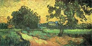 Landscape Castle Auvers Sunset- Van Gogh