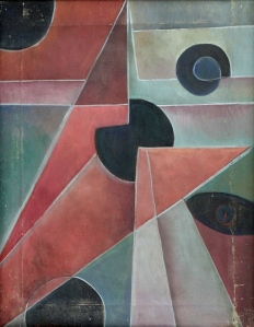 Mikhail Menkov Abstrakte Komposition -Rot und Blau1916