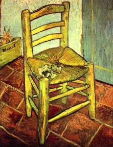 Vincent's chair with pipe -Van Gogh