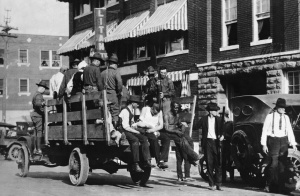 1921.Black Wall Street- wounded prisoners Army truck martial law Oklahoma.race riot