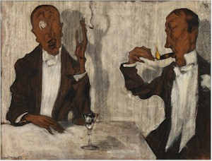 Conversationists- Michel Fingesten (1884-1943)