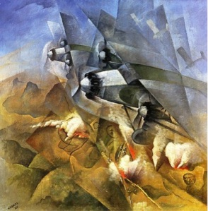 Futurismo Guerra.Aesthetics 1940-Aeropainting of War