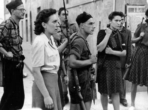 Italian partisan.help South African troops liberate Pistoia