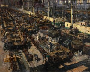 Production_of_tanks.Terence_Cuneo1939-1946