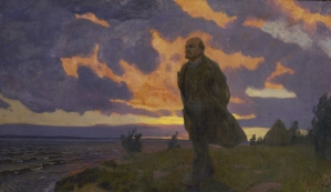Lenin near the river in 1917