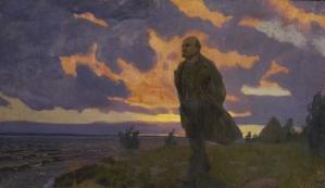 Lenin near the river in 1917