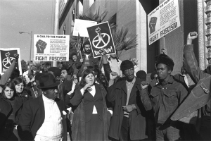 BLACK PANTHER SUPPORTERS DEMONSTRATE
