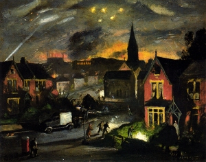 Incendiaries in a Suburb1941.Henry Carr