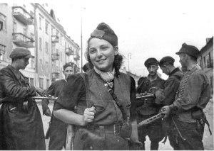 partisan Rachel Rudnitzki - streets of Vilna.WWII