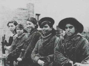 Spanish women. anti-fascists