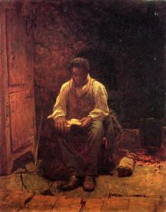 'The Lord is My Shepherd' by Jonathan Eastman Johnson (1824-1906 US)