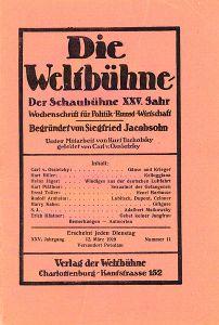 anti-nazis. Die Weltbühne.1929