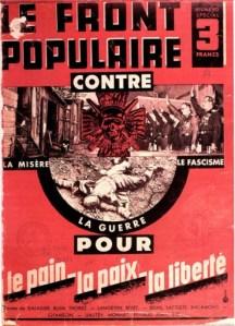 Front populaire. Contre la mièere, la guerre, le fascisme.1936