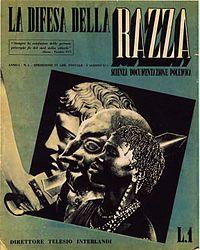 la.Difesa_della_razza.Italian racism'30