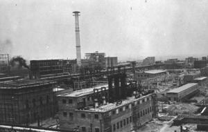 SS-IG Farben factory in Monowitz 1941