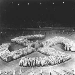 Swastika mass ornament, Nuremberg1933