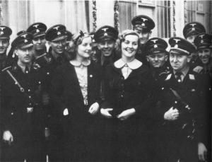 Unity and Diana Mitford. Nazi party rally -Nuremberg1937