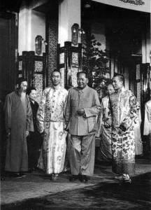 1954 Chairman Mao 14th Dalai Lama 10th Panchen Lama