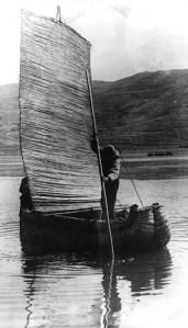 Balsa boat Lake Titicaca1940