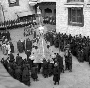 New Year Ceremonies Lhasa Tibet1942