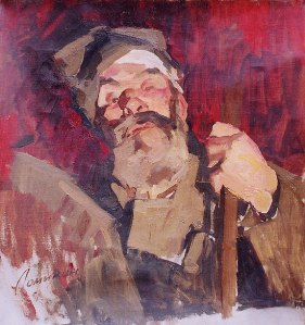 Old Soldier Listening to Lenin -Alive Word of Illich1967