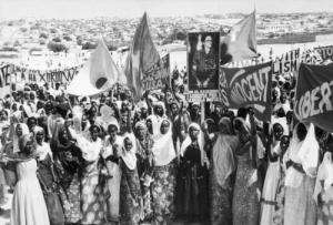Somalians Demonstrating For The Release Of Angela Davis