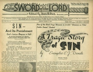 Front page of the Sword of the Lord, October 8, 1954