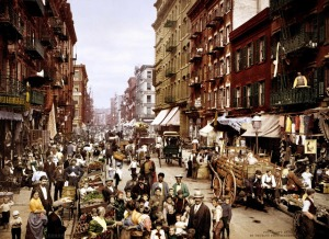 Mulberry Street. LowerEastSide NewYorkCity1900