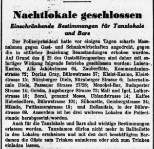 Order Hermann Goring. closure all gay bars Berlin (Monokel Bar) 1933