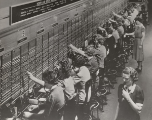 Bell System Telephone Switchboard.WW2