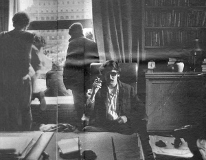 1968-David Shapiro-president's chair of Columbia University.SDS take over of University