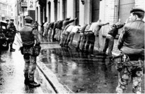 British Army search operation Belfast c.1971