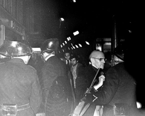 Foucault, Claude Mauriac, Jean Genet. arrested Beaujon