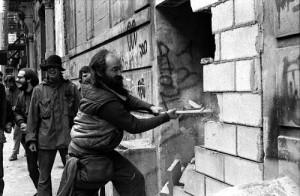 Lower East Side squatters -East Fifth Street 1986