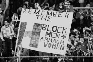 Protests hunger striker Bobby Sands 1981 n.Ireland