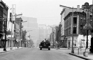 Soldiers Patrolling Ghost Town