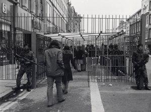 British soldiers checkpoint Belfast c1973
