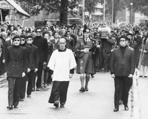 Funeral of Irish Hunger Striker, Michael Gaughan in London, 1974