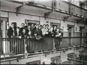 Irish Prisoners balcony of E Block - Stafford Jail 1916