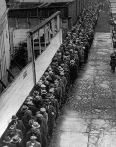 Jobless -homeless free dinner New York 1933