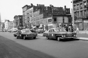 patrol Lenox Avenue NY 1964 riot Harlem