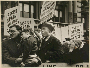 Spanish Civil War demonstration NY