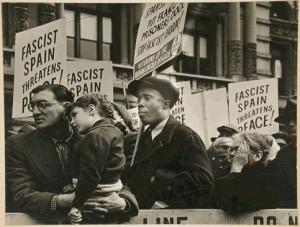 Spanish Civil War demonstration NY