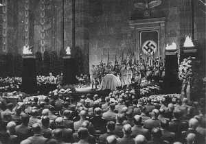State funeral for Nazi district leader Carl Roever