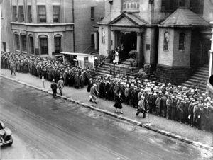 unemployed relief kitchen New York City 1934 Great Depression