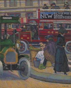 Piccadilly Circus 1912 by Charles Ginner 1878-1952