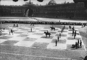 Human chess St. Petersburg1924
