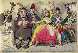 James Gillray-Louis XVI taking leave of his Wife and Family 1793