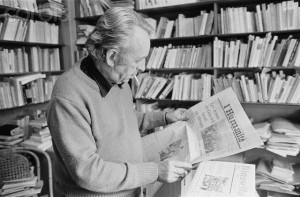 Philosopher Louis Althusser Reading
