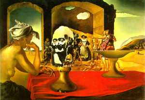 s.dali.Slave Market Disappearing Bust of Voltaire.1940